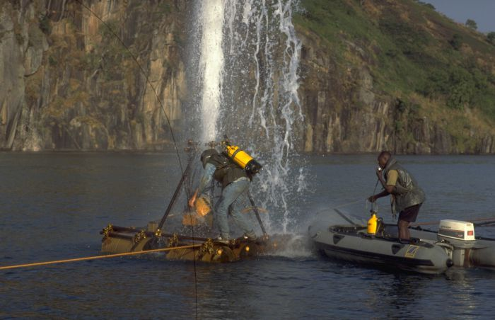 Lake Nyos is a crater lake in the Northwest Region of Cameroon ...